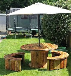 pallet cable spool recycled 11