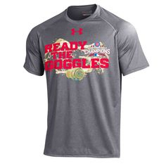 Chicago Cubs Under Armour 2016 World Series Champions Ready The Goggles Tech Performance T-Shirt - Charcoal - $29.99