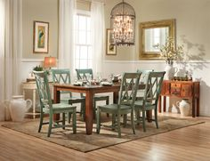 Get The Charm Of Worn In Chic With Vintage Dining Set Chairs Come