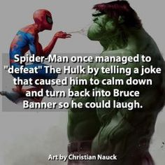 Awesome// also another reason why Spiderman is my favourite superhero! Marvel Funny, Marvel Memes, Marvel Dc Comics, Marvel Avengers, Deadpool And Spiderman, Avengers Memes, Marvel Girls, Power Girl, Deathstroke