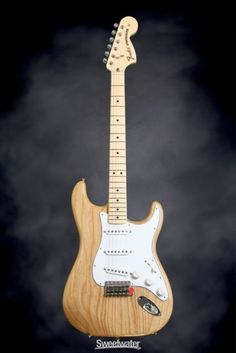 Fender Stratocaster.i had the pleasure of playing one of these.And it was a left handed guitar since I played left handed and it was worth 1000 dollars.It really was a nice guitar!