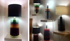 """Recycled record lamps made their debut during New York Design Week. - Interesting, but my records aren't getting """"repurposed."""""""