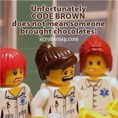 a little code brown nurse humor. Mama Humor, Rn Humor, Medical Humor, Funny Medical, Medical Quotes, Tech Humor, Ecards Humor, Nurse Jokes, Nursing Memes