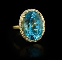Ray Griffiths Blue Topaz Oval Ring