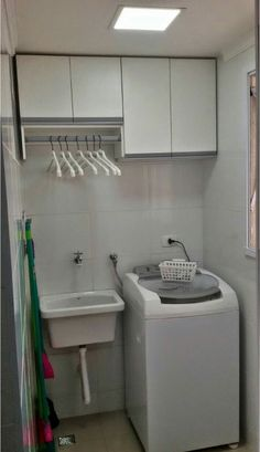 Small laundry room ideas top load with drying rack and storage laundryroom smalllaundryroom homedecor smallspace 643170390517886596 Laundry Room Wall Decor, Laundry Room Storage, Laundry Room Design, Outdoor Laundry Rooms, Small Laundry Rooms, Small Apartments, Small Spaces, Hobby Design, Bedroom Cupboard Designs