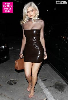 Kylie Jenner Flaunts Curves In Leather Sheer Dress: See Her Sexy Fall Style Clubbing Outfits, Sexy Outfits, Fashion Outfits, Night Outfits, Le Style Du Jenner, Bff, Kendall And Kylie Jenner, Kylie Jenner Black Dress, Kylie Jenna