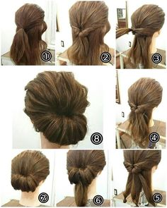 Trendy hairstyles for short and medium haircut! 25 Easy Hairstyles for SHORT and medium Hair pixie haircut tutorial, how to cut hair, how to cut women's hair. Work Hairstyles, Trendy Hairstyles, Wedding Hairstyles, Easy Vintage Hairstyles, Interview Hairstyles, Vintage Updo, Bouffant Hairstyles, 1940s Hairstyles, Asymmetrical Hairstyles