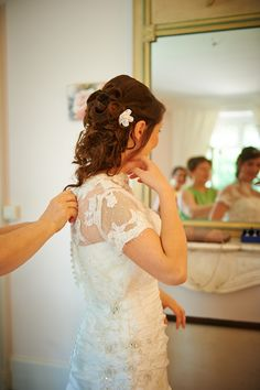 Me in my wedding dress, almost ready to go...