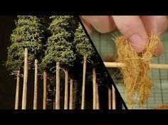 Pine trees are found all over the world which makes them a great tree to model on any model railroad or model diorama. In this tutorial I'll show you a simpl. Inkle Loom, Miniature Trees, Miniature Christmas, Model Train Layouts, Model Building, Miniture Things, Model Trains, Toy Trains, Scenery