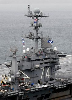 USS Stennis exhibits its Seattle Seahawks team spirit
