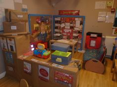 Loughton preschool children were showing an interest in letter writing so an outing was organised to visit the post office. The local postman then visited to answer any questions and  they also had the opportunity to look inside his van.  The role play area was then turned into a post office and children are now exhanging letters with Spitalfields nursery Christmas Post, Diy Christmas Gifts, Katie Morag, Role Play Areas, Dramatic Play, Imaginative Play, Letter Writing, Post Office, Pretend Play