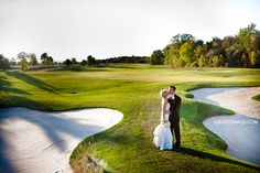 Great golf course shot at RattleSnake Point Golf CLub in Milton :: Photos by LG Weddings