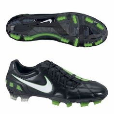 Nike T90 Laser Elite FG Cheap Soccer Shoes Black Green   Nikes   Pinterest    Cheap soccer shoes and Soccer shoes