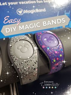 and how they held up! ⋆ Exploring Domesticity - DIY Custom Magic Bands… and how they held up! Easy diy Walt Disney World magic bands with nai - Disney World Parks, Walt Disney World Vacations, Disney Cruise, Disney Travel, Disney Disney, Family Vacations, Cruise Vacation, Vacation Destinations, Family Travel