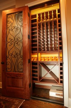 Select Series by Kessick Wine Cellars is a wall mounted wine rack system designed to store and display wine. Great for closets and other small spaces.Constructed of Mahogany, they have a lacquer finish, LED lighting and are shipped fully assembled.