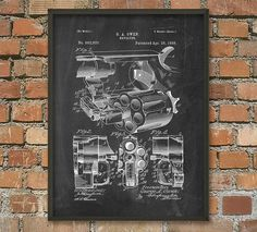 Revolver Patent Wall Art Poster 3 by QuantumPrints on Etsy