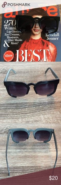 🌟😎Fabulous Black 3/4 Frame Sunnies😎🌟 Super cute 3/4 black, high gloss frame sunglasses. 💞💞✨ Accessories Sunglasses