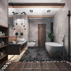 """Browse photos of Small Bathroom Tile Design. Find suggestions and inspiration for Small Bathroom Tile Design to enhance your house. Contemporary Interior Design, Modern Bathroom Design, Bathroom Interior Design, Bath Design, Spa Design, Interior Modern, Contemporary Bathrooms, Minimal Bathroom, Tile Design"