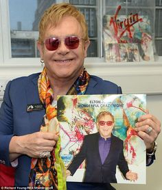 Elton John HMV RECORDS LONDON FEBRUARY 3, 2016