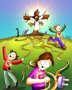 Share the love ❤️ Happy Good Friday Bible Stories For Kids, Bible For Kids, Bible Crafts, Bible Art, Catholic Art, Religious Art, Jesus Cartoon, Jesus Artwork, Happy Good Friday