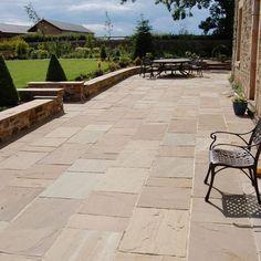Details about Royal Amber Indian Premium Natural Sandstone Paving Slabs Patio Stone – SAMPLE - Modern Patio Wall, Backyard Patio, Backyard Landscaping, Stone Backyard, Backyard Fireplace, Pergola Patio, Landscaping Ideas, Sandstone Paving Slabs, Paving Stones