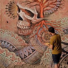 Beau Stanton at work in Rome, Italy (LP)