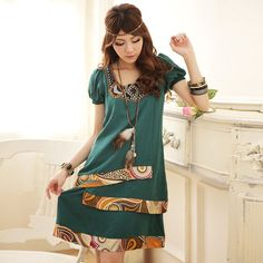bohemian dress for asian designer k1002497 Green - chinese clothing women - bags wholesale - clothing online shop green-goddess