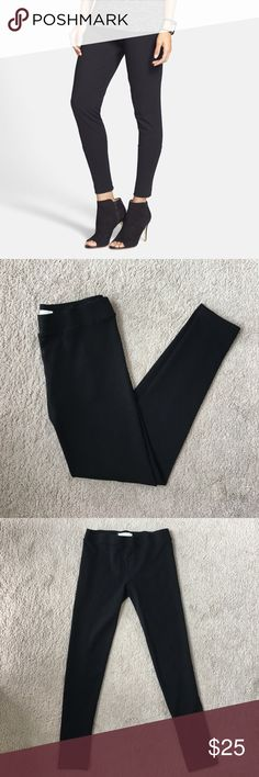 "Vince Camuto Seamed Black Leggings Slim, sleek fit. These are in perfect condition and have only been worn a few times. This runs large, so while these are XS they will better fit S. Inseam is 30.5"". Made of polyester, rayon, and spandex. Not see through at all! Vince Camuto Pants Leggings"