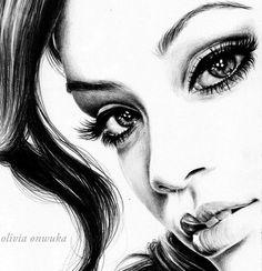 Rihanna Drawing Detail. by duchess94 on DeviantArt