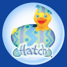 Hatch with U know who - Easter, colored eggs, Spring duck