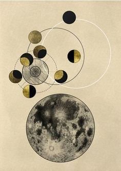 Phase and Cycle Art Print #moon