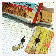 Working on listing some earrings and snacking. These #quakerflats pack a flavor punch! #yum #receivedfree @influenster