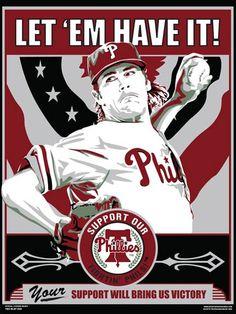 Cole Hamels of the Philadelphia Phillies. Phillies Baseball, Baseball Art, Sports Baseball, Cole Hamels, Minor League Baseball, Major League, Fantasy Team, Propaganda Art, Baseball Equipment