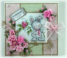 Wee Bunny [SZWS117] - $7.00 : Whimsy Stamps