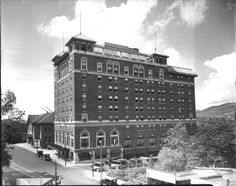 George Vanderbilt Hotel and old Auditorium, circa early century (Before Thomas Wolfe Auditorium was built). From the E W Ball Photographic Collection at UNCA Library Special Collections. Asheville Hotels, Asheville Nc, Asheville North Carolina, Western North Carolina, Thomas Wolfe, Biltmore Estate, Historical Pictures, Auditorium, Sweet Memories