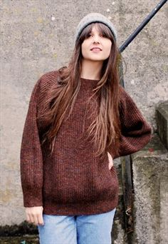 Vintage Wool Ribbed Jumper
