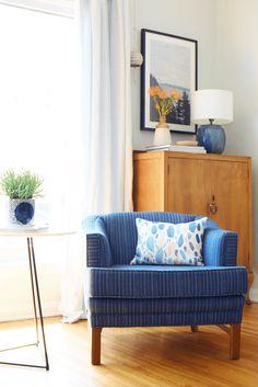 mid-century modern cabinet. Mel's Living Room Reveal - Emily Henderson