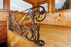 Custom Made Art Nouveau Rail by John Winer