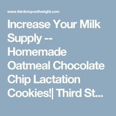 Increase Your Milk Supply -- Homemade Oatmeal Chocolate Chip Lactation Cookies!| Third Stop on the Right