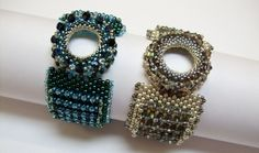 """Weekly Bead Circle Project: """"Surface Appeal Bracelet"""" Bead & Button Magazine, Dec 2014"""