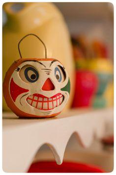 Vintage - Clown Jack-o-Lantern