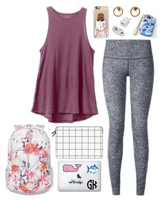 """""""Plane ride back home in 4 days!"""" by classygrace ❤ liked on Polyvore featuring RVCA, lululemon, Casetify, The North Face, Lilly Pulitzer, Southern Tide and Vineyard Vines"""
