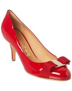 8874fa2cbef4 Salvatore Ferragamo Carla 70 Patent Pump is on Rue. Shop it now. Red Shoes