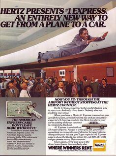 1980 Hertz Rental Car with OJ Simpson.