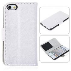 $4.10..Unique Design Litchi Texture Holster Leather Case for iPhone 5 - White.http://bit.ly/12W5AF5