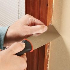 How to avoid and remove paint drips from woodwork.