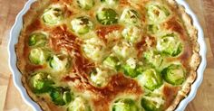 Brussels Sprouts & Gruyere Quiche