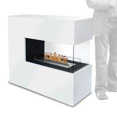 Grande cheminée éthanol Romane Piece A Vivre, Foyers, Loft, Tv, Kitchen, Inspiration, Design, Home Decor, Log Burner