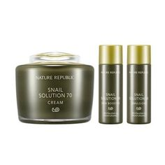 NATURE REPUBLIC Snail Solution 70 Cream Special Set Made in Korea *** You can get additional details at the image link.