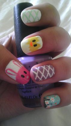 All you need to do for this is to draw small animals onto your nails with the help of a toothpick or a nail paint pen! This might take some practice to draw nicely :) keep trying!